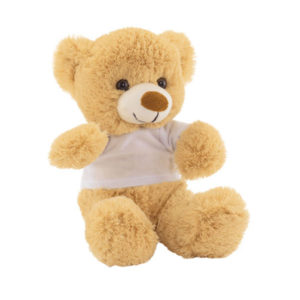 "Plush teddy bear ""Alexander""with white t-shirt (packed separately), цвет brown white"