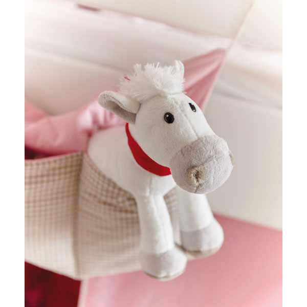 Plush horse «Jonny» with red scarf (packed separately), цвет white