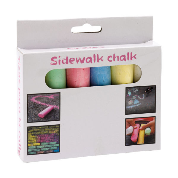 6 pieces of coloured chalk «Street», цвет coloured