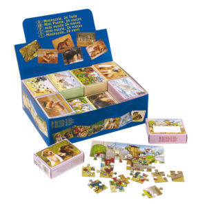 """Mini puzzle """"Selection"""" consists of 24 different puzzles with 24 puzzle pieces, price per piece, цвет coloured"""
