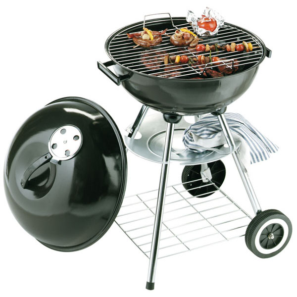 Round barbecue grill «Master», цвет black