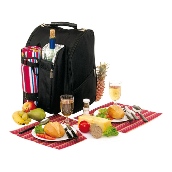 Picnic backpack «Diabolo» for 2 persons, цвет black red