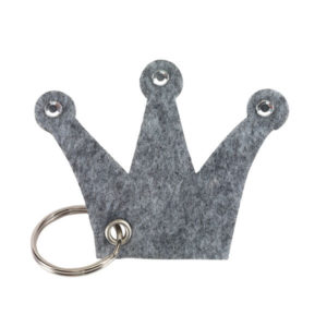 "Felt key ring ""Castle"", цвет grey"
