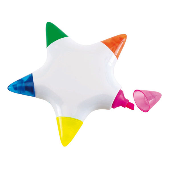 Highlighter «Star», цвет white blue green orange yellow red