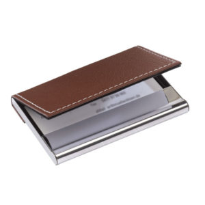 "Business card holder ""Superb"", цвет silver brown"