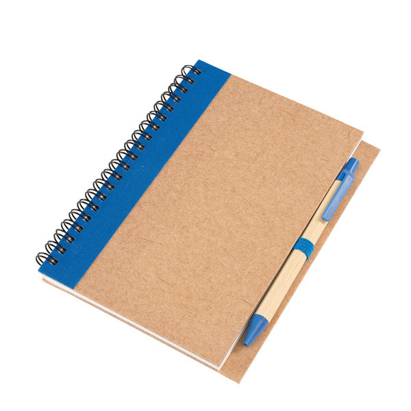 Note book «Recycle» in a DIN A6 format, цвет blue