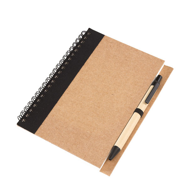 Note book «Recycle» in a DIN A6 format, цвет black