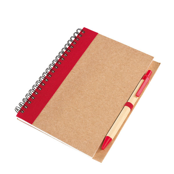 Note book «Recycle» in a DIN A6 format, цвет red