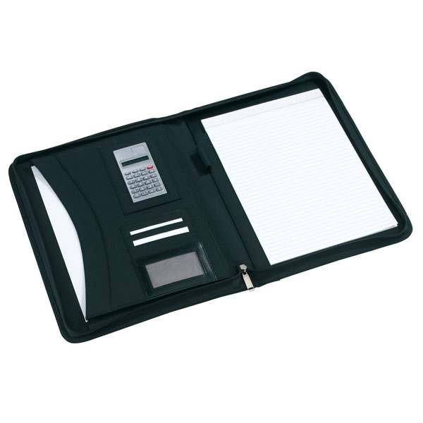 Portfolio «Noblesse» in DIN A4 format with calculator, цвет black