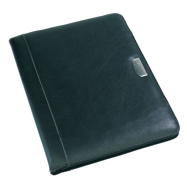 Portfolio «Noblesse» in DIN A4 format with note pad, цвет black