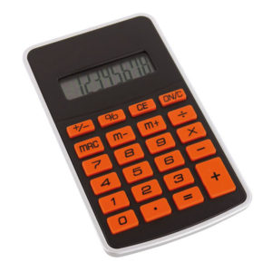 "8-digit calculator ""Touchy"", цвет black orange"