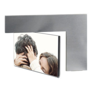 "Rotatable photo frame ""Arc"", цвет silver"