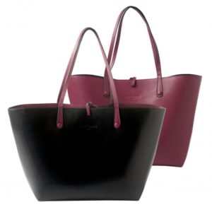Shopping bag Tourbillon Reversible Bordeaux-Noir