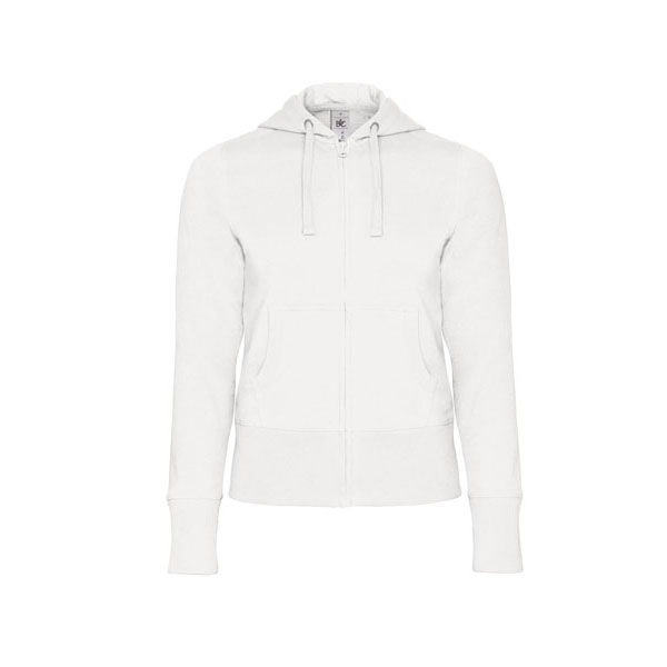 B&C Hooded Full Zip /women, цвет White