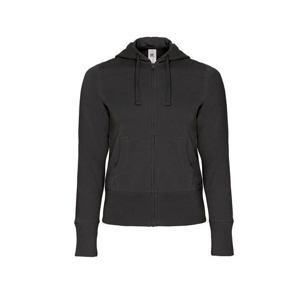 B&C Hooded Full Zip /women, цвет Black