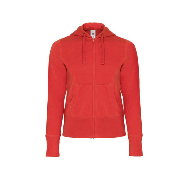 B&C Hooded Full Zip /women, цвет Red