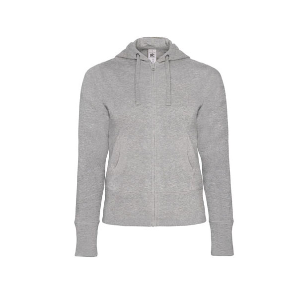B&C Hooded Full Zip /women, цвет Heather Grey